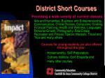 district short courses3