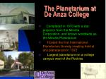the planetarium at de anza college