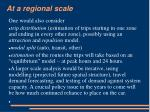 at a regional scale7