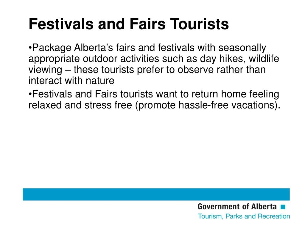 Festivals and Fairs Tourists