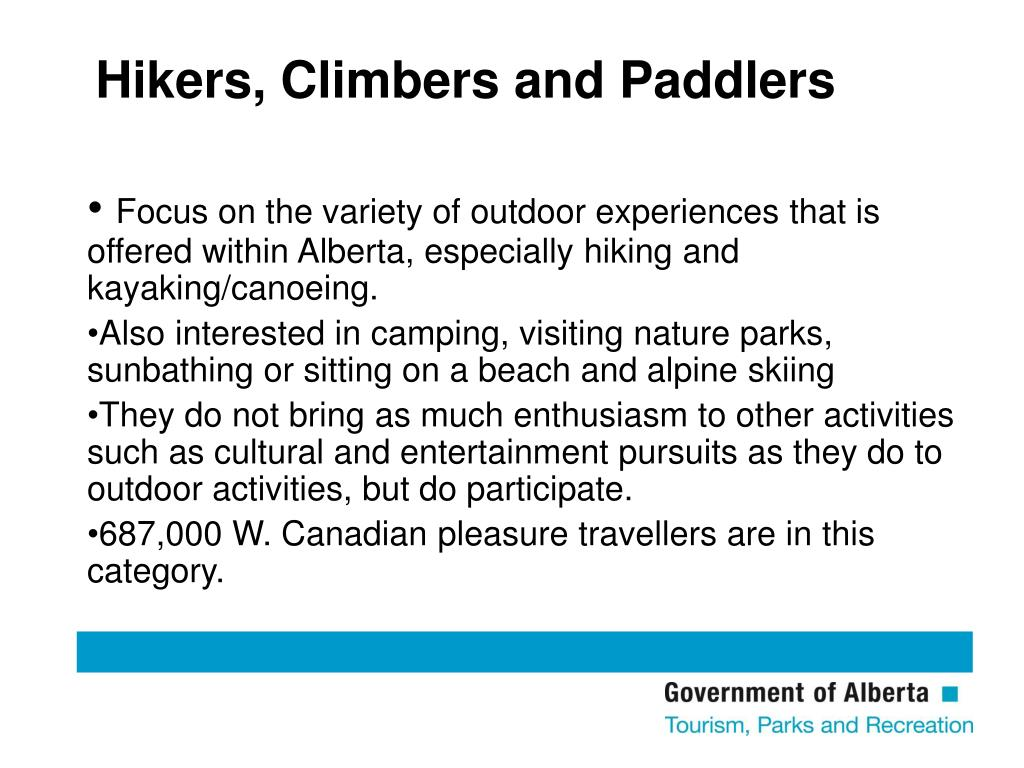 Hikers, Climbers and Paddlers