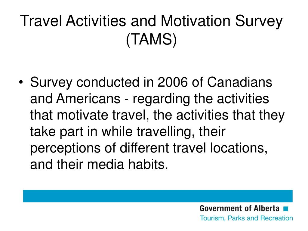 Travel Activities and Motivation Survey (TAMS)
