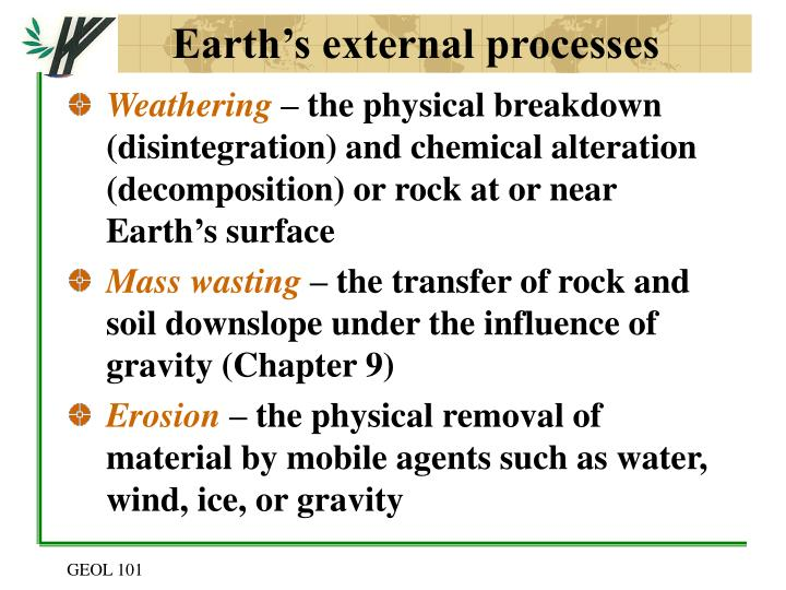 Earth s external processes