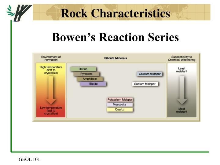 Rock Characteristics