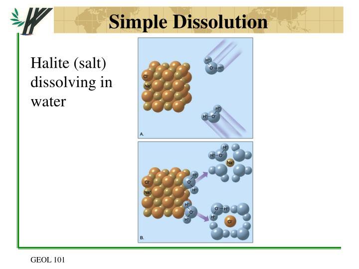 Simple Dissolution
