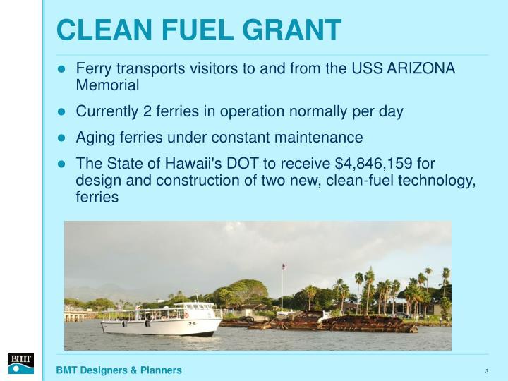 Clean fuel grant