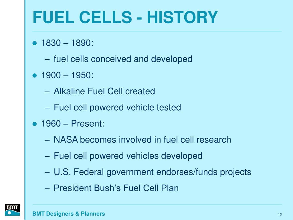 FUEL CELLS - HISTORY