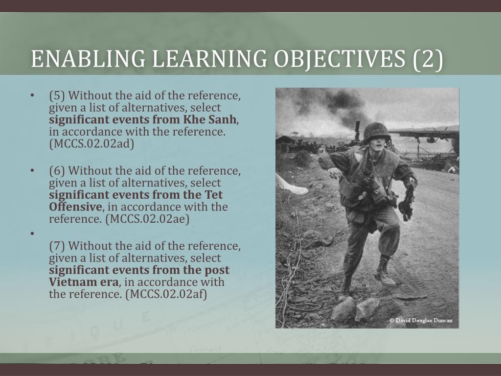 Enabling learning objectives (2)