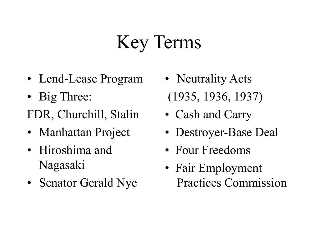 Lend-Lease Program