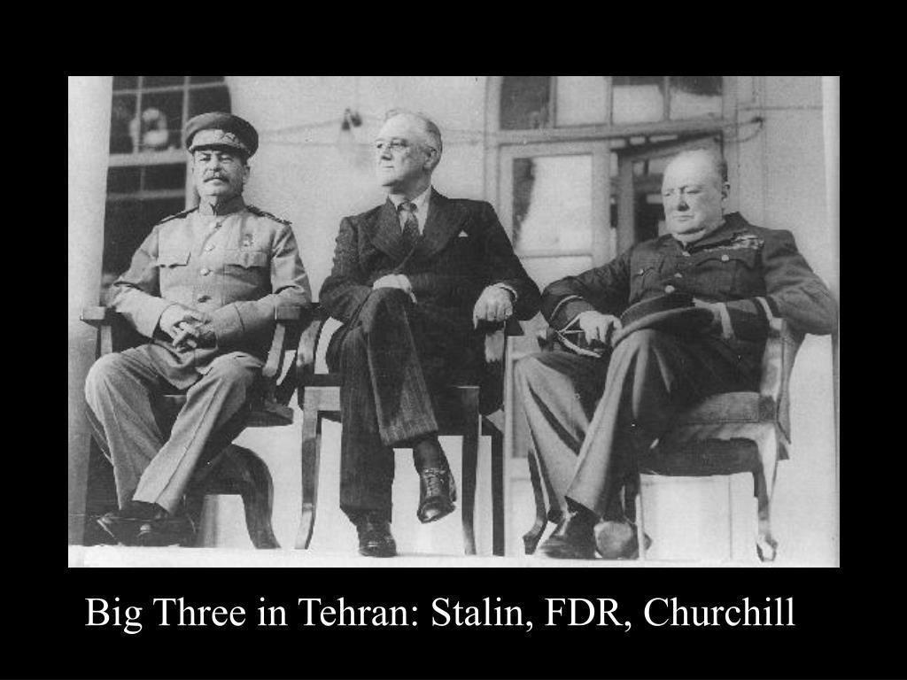 Big Three in Tehran: Stalin, FDR, Churchill