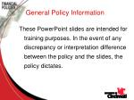 general policy information6