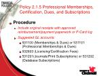 policy 2 1 5 professional memberships certification dues and subscriptions68
