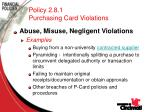 policy 2 8 1 purchasing card violations49