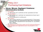 policy 2 8 1 purchasing card violations50