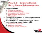 policy 3 3 1 employee reward recognition and acknowledgement70