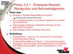 policy 3 3 1 employee reward recognition and acknowledgement71