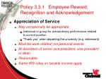 policy 3 3 1 employee reward recognition and acknowledgement76