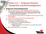 policy 3 3 1 employee reward recognition and acknowledgement77