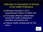 federation of associations of schools of the health professions