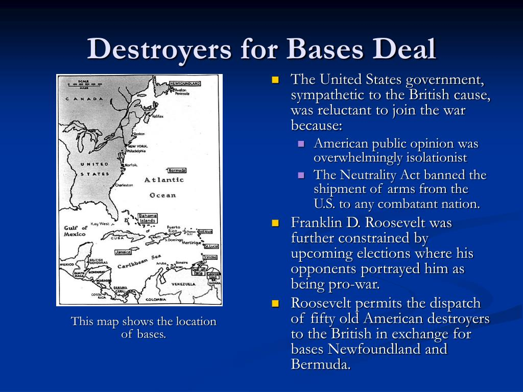 Destroyers for Bases Deal