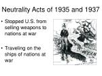 neutrality acts of 1935 and 1937