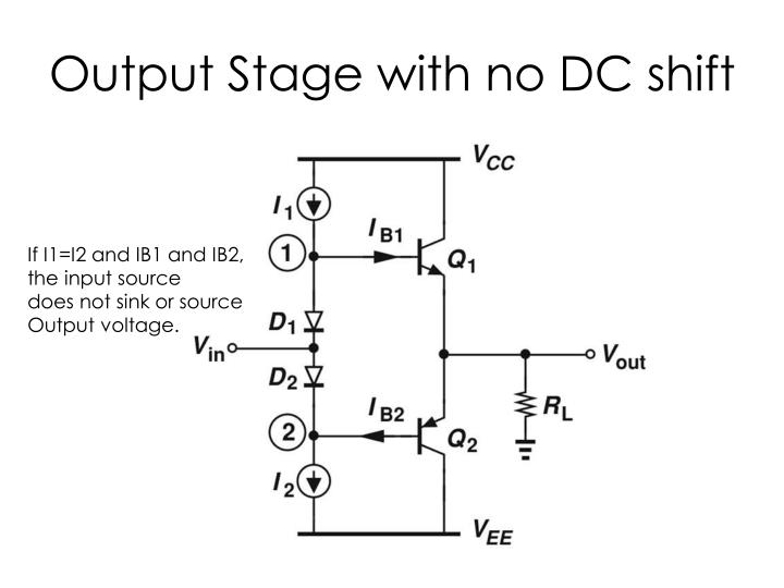 Output Stage with no DC shift