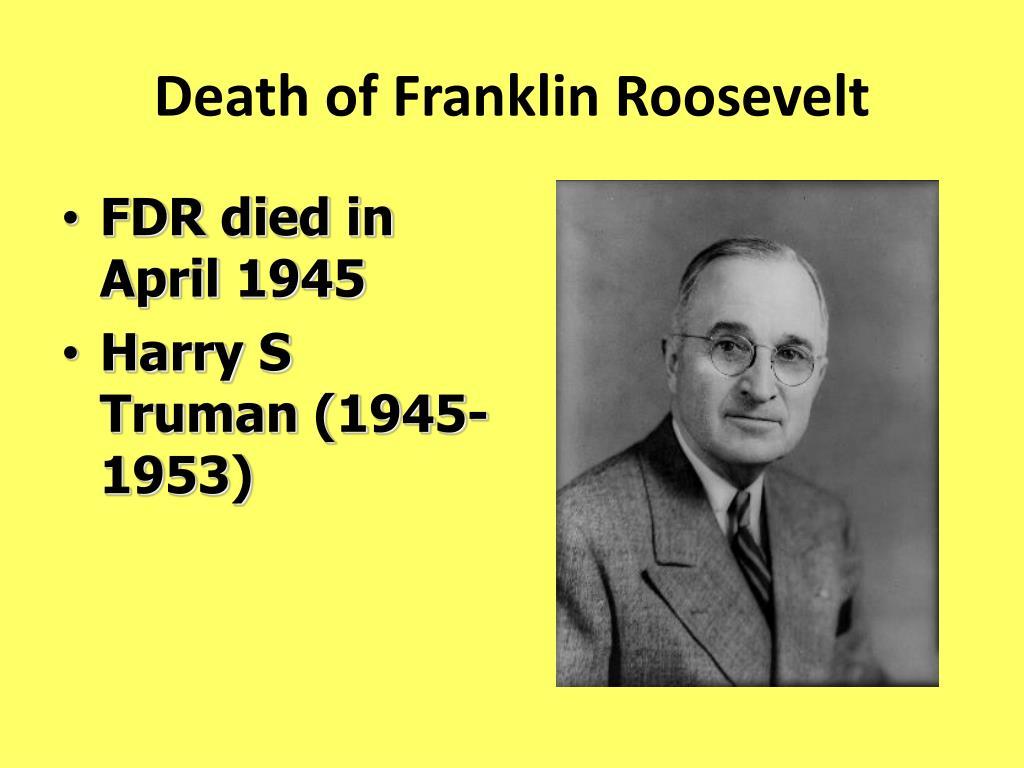 Death of Franklin Roosevelt