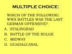 multiple choice95