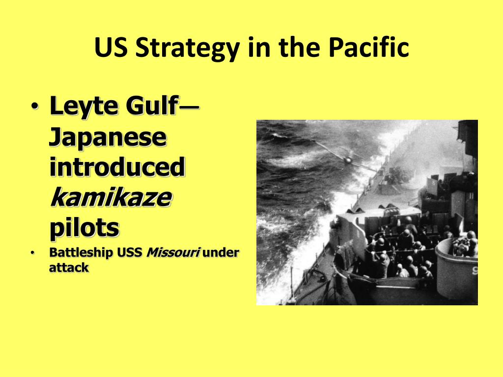 US Strategy in the Pacific