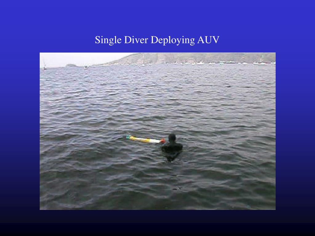 Single Diver Deploying AUV