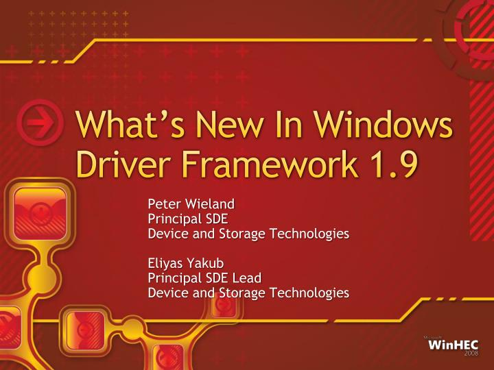 What s new in windows driver framework 1 9