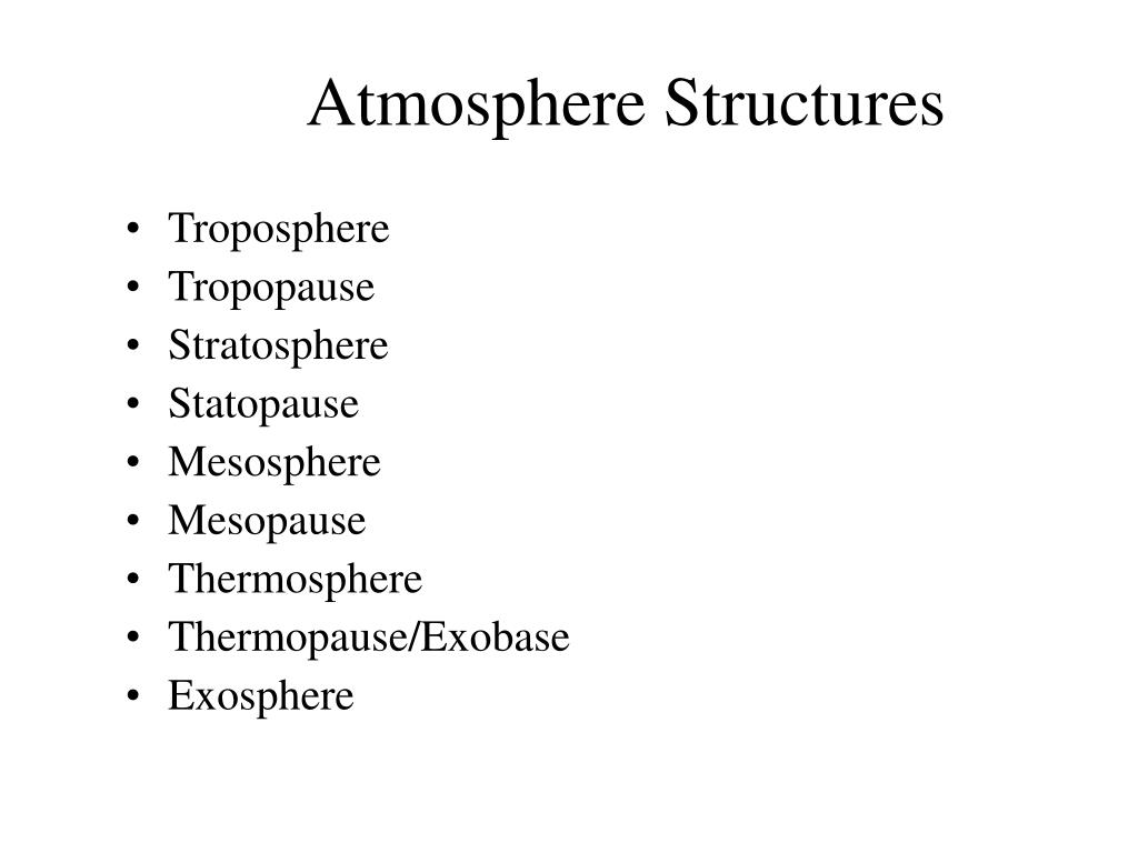 Atmosphere Structures
