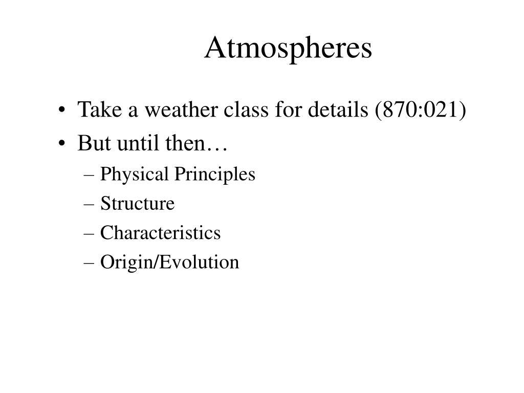 atmospheres l.