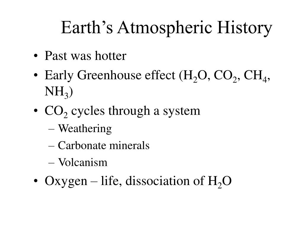 Earth's Atmospheric History