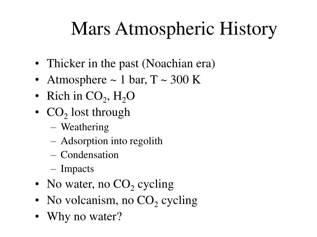 Mars Atmospheric History
