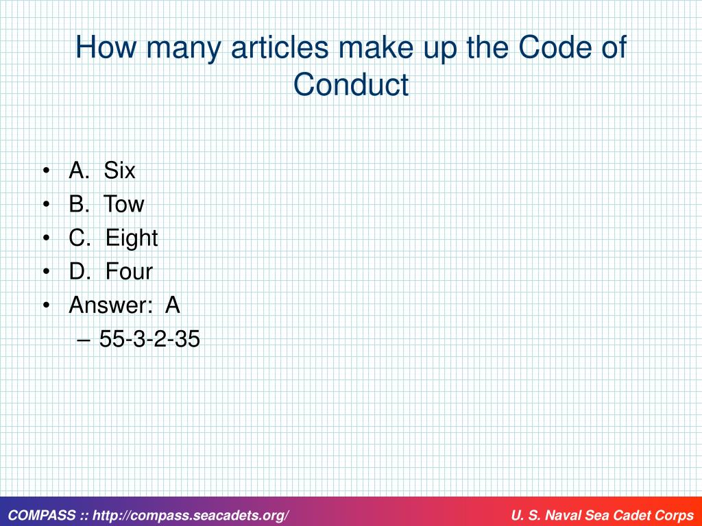 How many articles make up the Code of Conduct