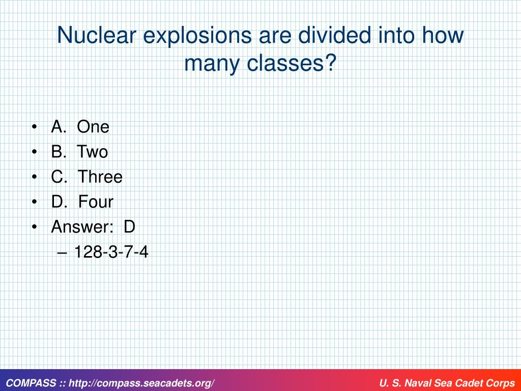 Nuclear explosions are divided into how many classes?