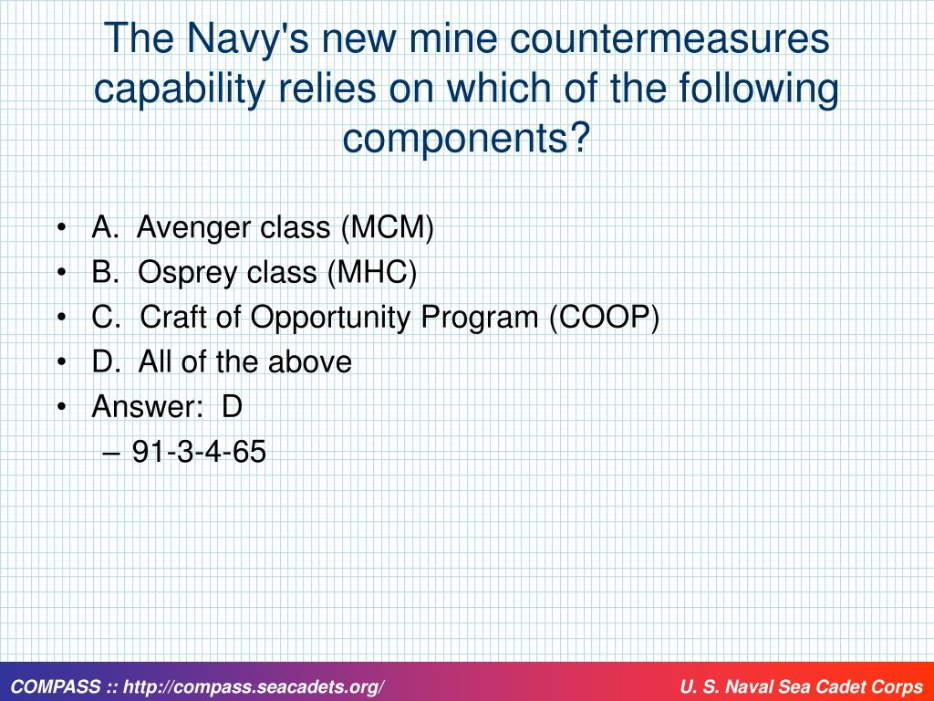 The Navy's new mine countermeasures capability relies on which of the following components?