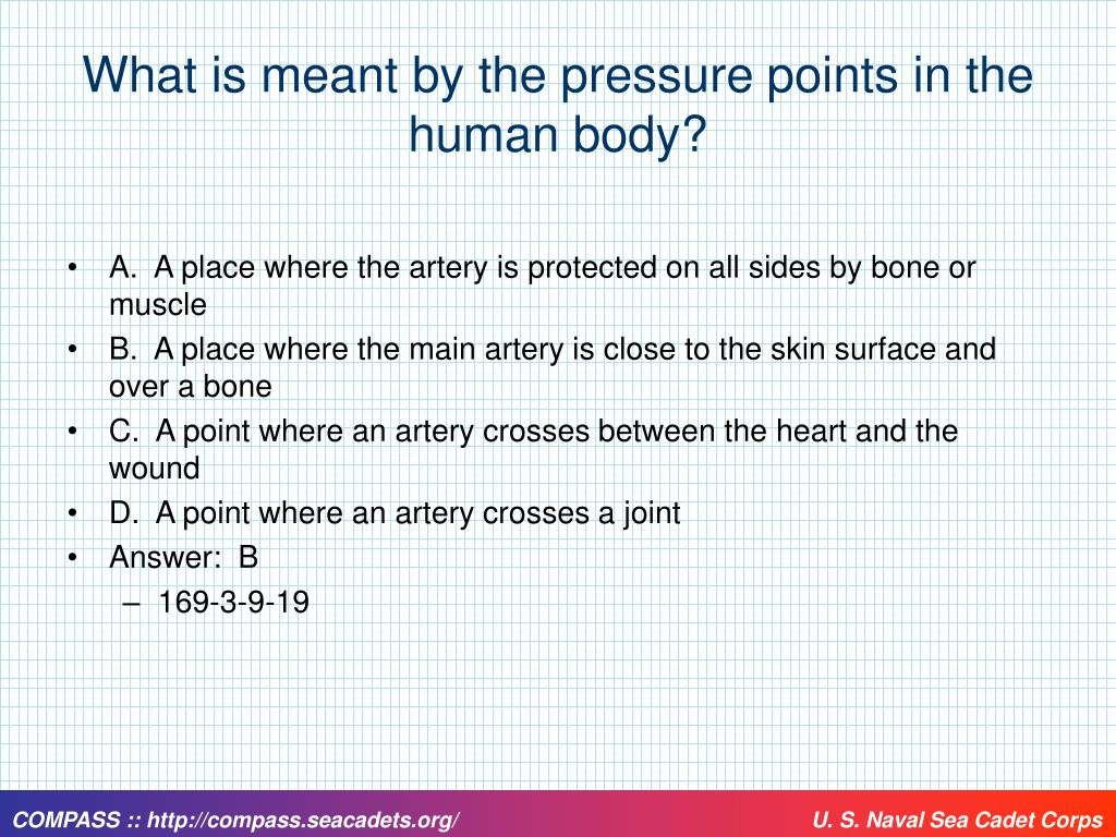 What is meant by the pressure points in the human body?