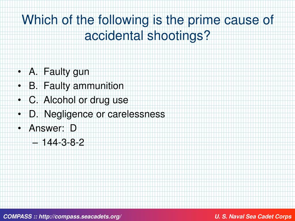 Which of the following is the prime cause of accidental shootings?
