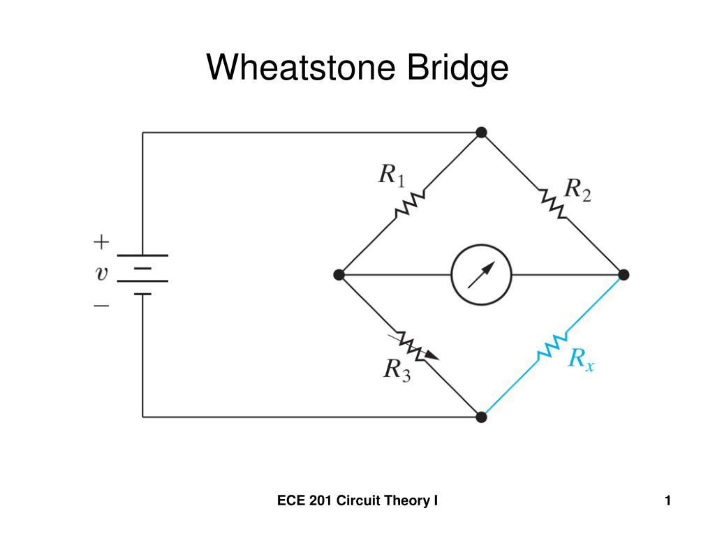 Ppt Wheatstone Bridge Powerpoint Presentation Id832280 Of An Electrical Circuit Showing The N