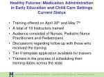 healthy futures medication administration in early education and child care settings current status