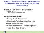 healthy futures medication administration in early education and child care settings implementation