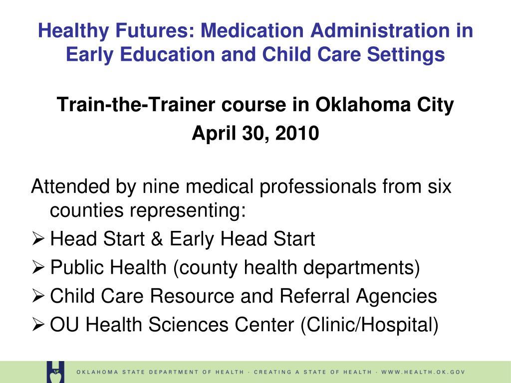 Train-the-Trainer course in Oklahoma City