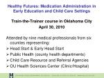 healthy futures medication administration in early education and child care settings9