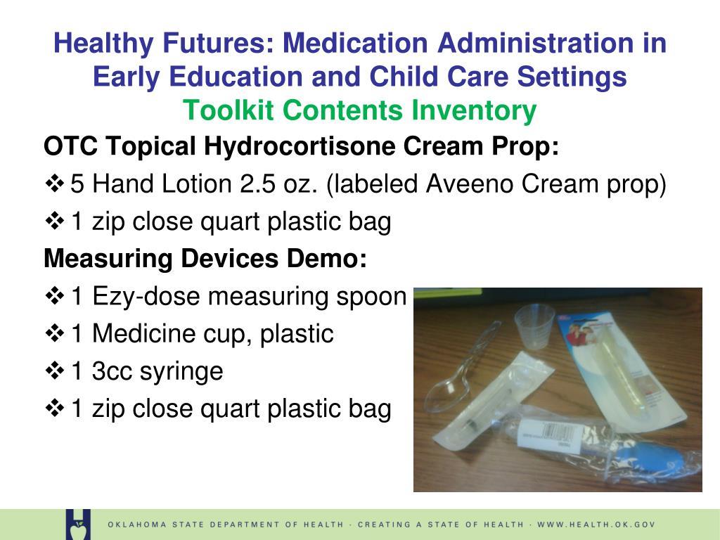 OTC Topical Hydrocortisone Cream Prop:
