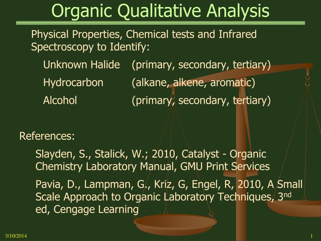 organic qualitative analysis l.