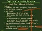 organic qualitative analysis17