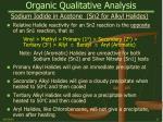 organic qualitative analysis21