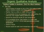 organic qualitative analysis22
